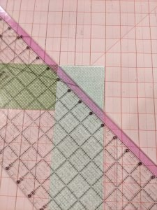 Marking sew line to join strips together