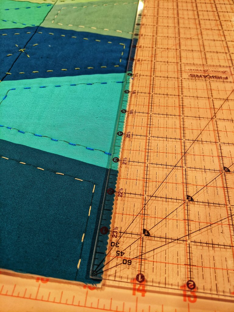 Marking Quilt top for binding attachment