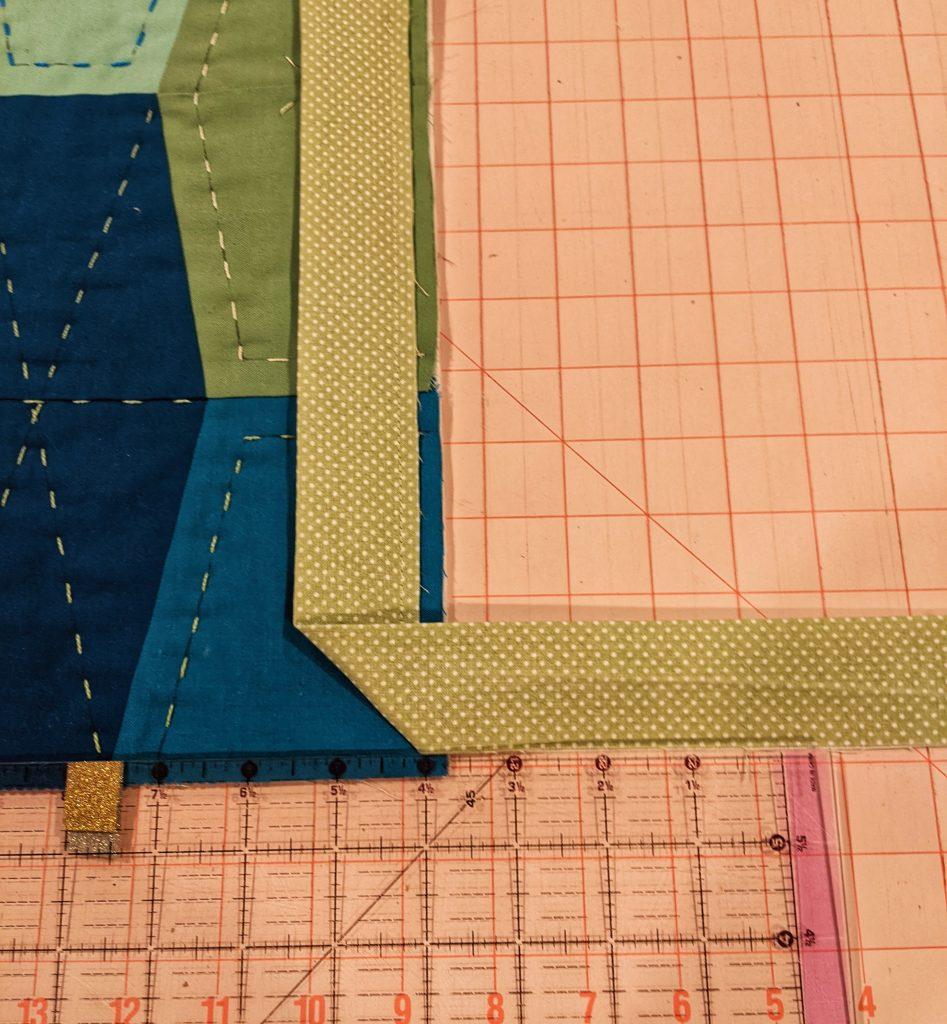 Folding the corner for attachment