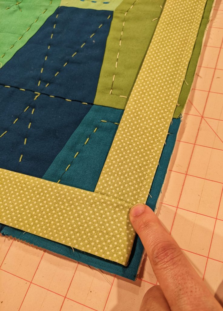 Folding corner of binding