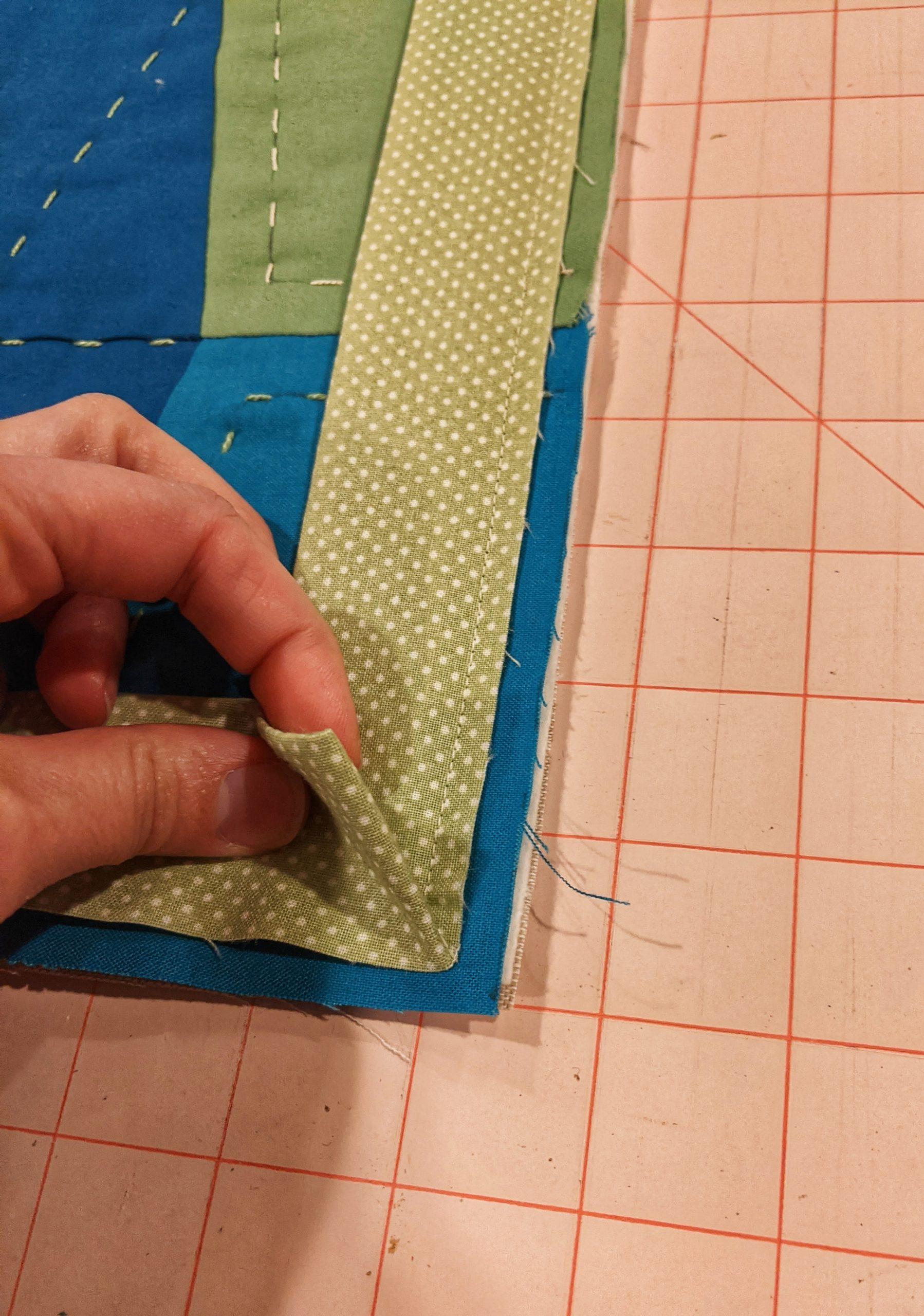 Corner of binding