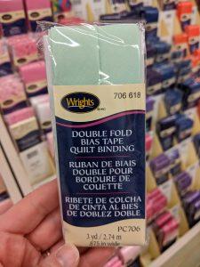 Store bought Bias Tape Binding