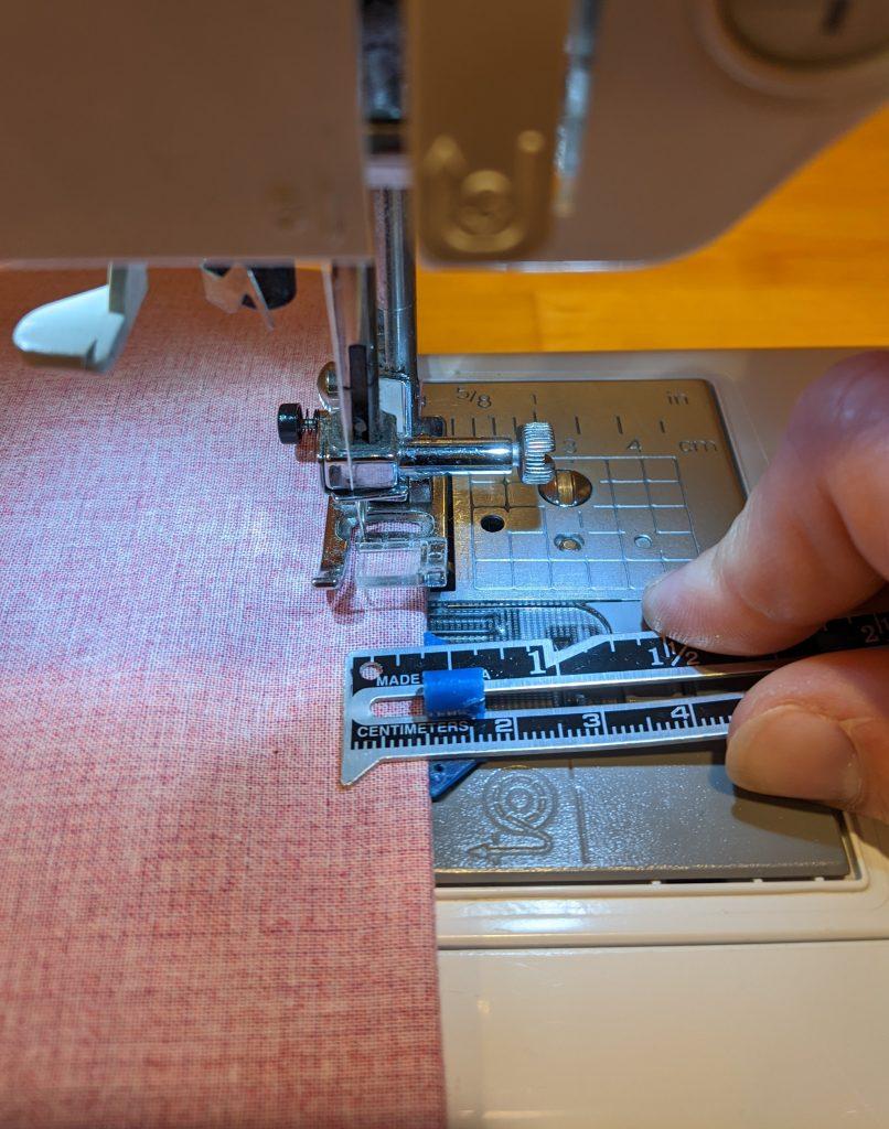 Creating French seam on pillowcase
