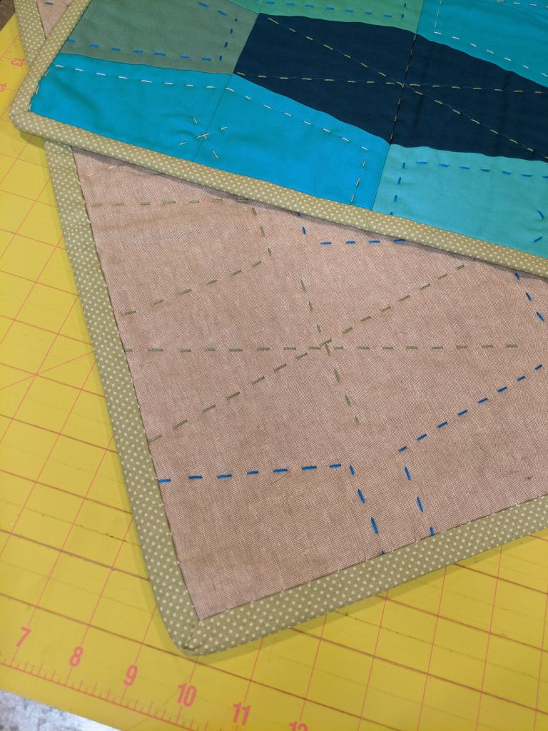 Binding on quilt; common sewing term
