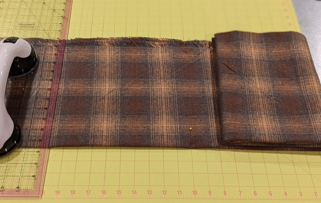 Cutting fabric for blanket scarf