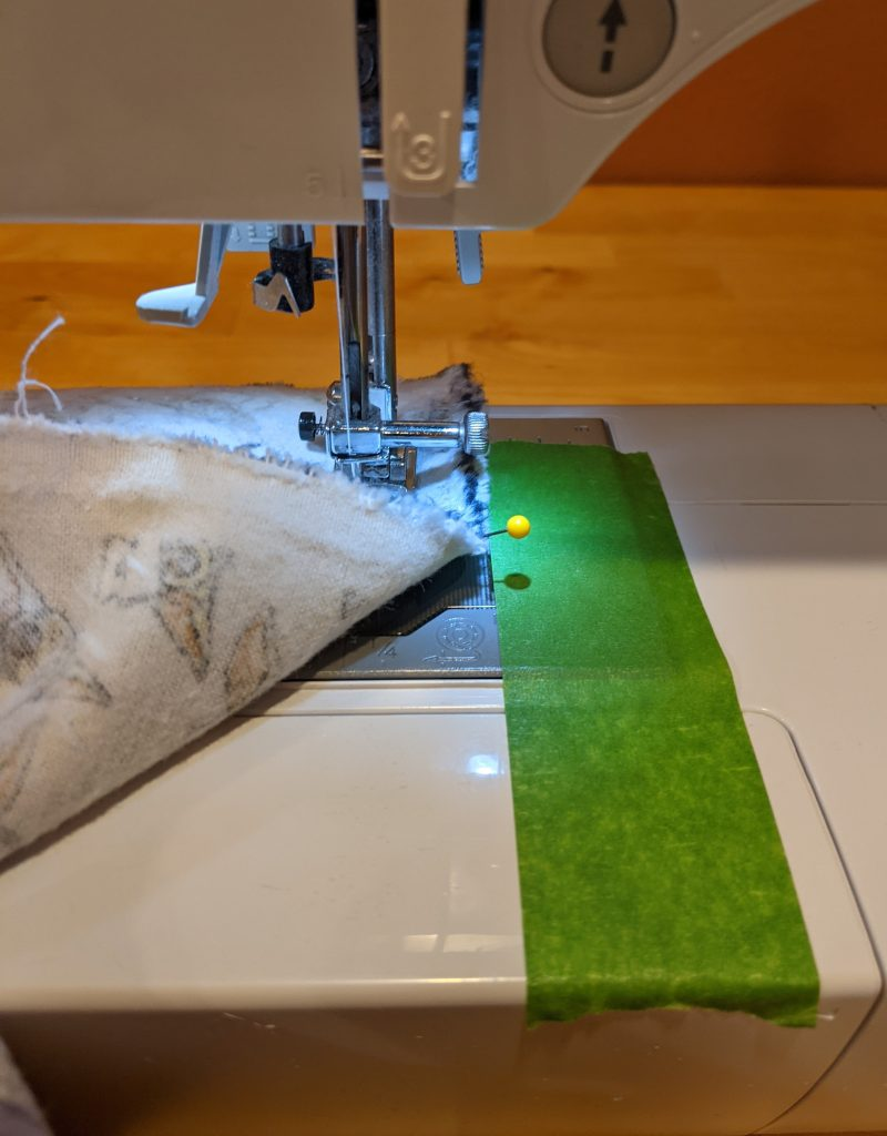 Join flannel pieces to create large panel