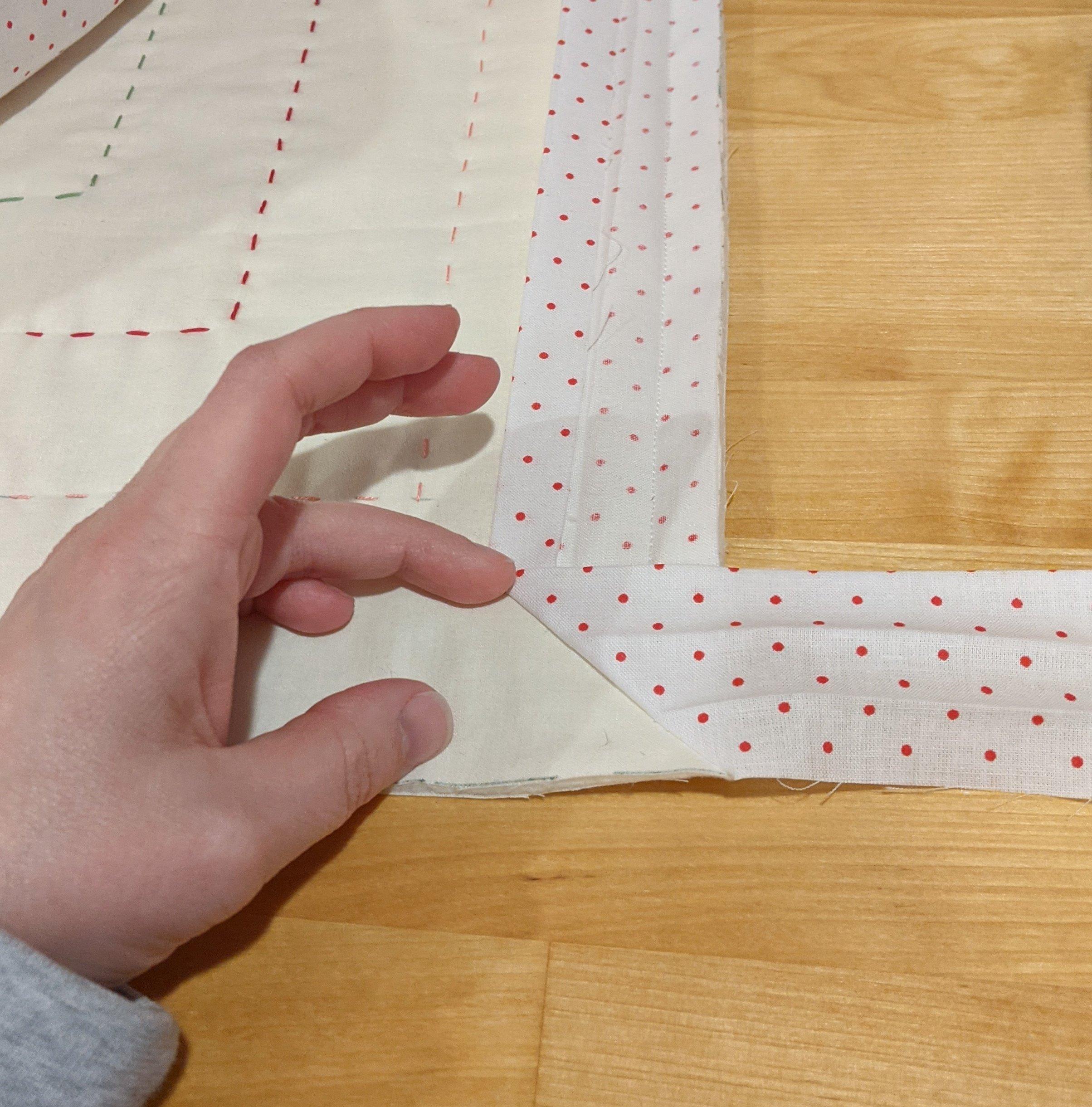 Attach binding in corners