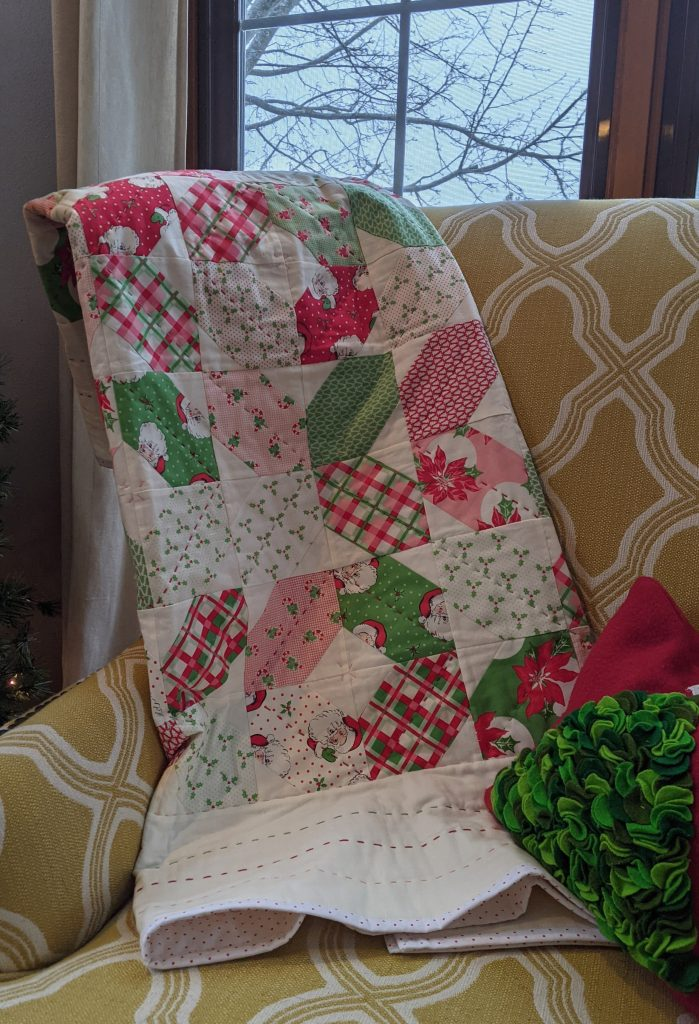 Binding on finished quilt