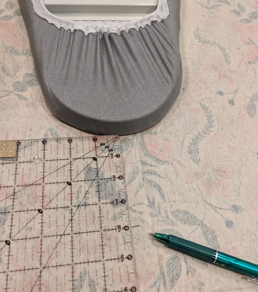 creating ironing board cover pattern piece