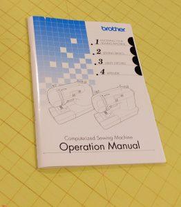 Sewing maching manual