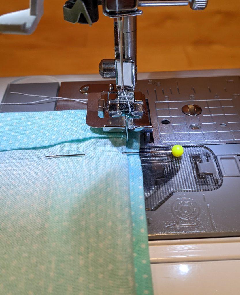Sewing blind hem stitch using blind hem presser foot
