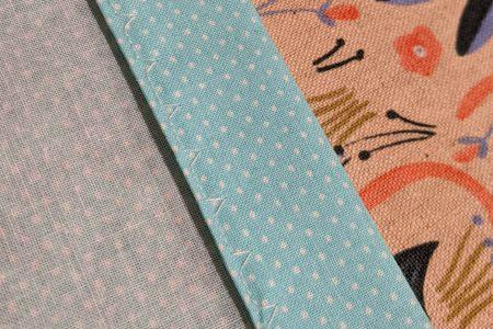 Wrong side of fabric, blind hem stitch
