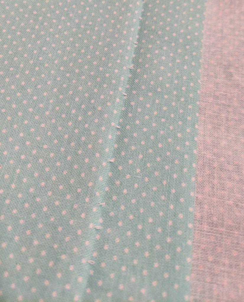 Blind hem stitch, right side of fabric