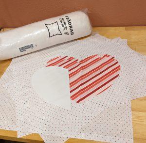 Valentine Pillow Holder supplies