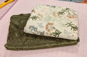 Fabric needed for quilted velvet blanket project