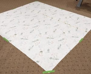 cotton quilt front, wrong side up