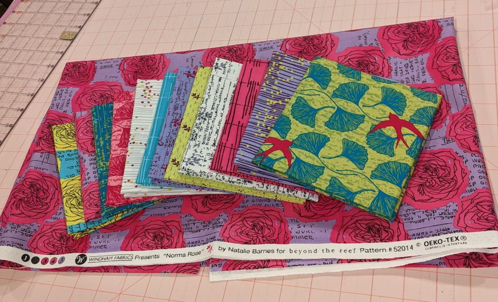 """Normal Rose Fabric for """"Our Star"""" Quilt"""