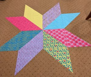 Star comprised of large triangles