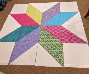 """""""Our Star"""" Quilt before piecing completed"""