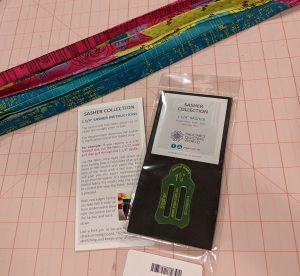 Prepared binding strips ready for atttachment