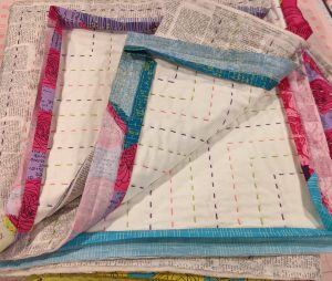Binding attached and ready for handsewing